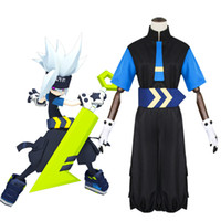 trajes de cosplay masculinos de anime venda por atacado-Anime Aotu World Cosplay Cinza Diário Masculino Feminino Roupas Halloween Party Cosplay Traje Japonês Dos Desenhos Animados