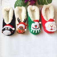 Wholesale Cartoon Christmas Slipper Socks Thickened Floor Sock Party Xmas Series Women Girl Shoes Non Slip high Quality cm