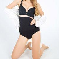 culotte corset noire achat en gros de-corps Shaper post-partum contrôle culotte sangle taille corset amincissant ceinture bodysuit femmes corrective peau noire sous-vêtements rouges
