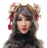 vídeo mascarando venda por atacado-Princesa Christina máscara facial para máscara feminina de Silicone Europeu para Masquerade Halloween Crossdresser com shows de vídeo