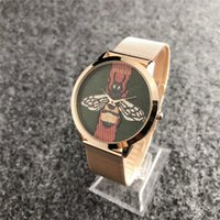 pp armband großhandel-2019 mode dz marke frauen männer mädchen kristall zifferblatt edelstahl metallband quarz armbanduhr pandora armbanduhr tom guess pp