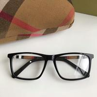 rahmen 17 großhandel-Newarrival Quality BE2283 prägnante rechteckige Unisex-Brille Rahmen 54-17-140 karierten Designer für Brillen pur-Plank fullset Fall