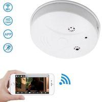 p2p rauchmelder wifi kamera großhandel-WiFi Rauchmelder HD 1080P Wireless IP-Kamera RauchmelderMotion Detection Wireless P2P Sicherheit Wandhalterung Home Cam Remote DV PQ533