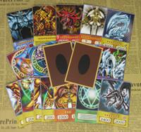 anime escuro venda por atacado-20pcs Yu-Gi-Oh! Memória do estilo do Anime Cartões Dark Magician Exodia Obelisco Slifer Ra Yugioh DM clássico Orica Proxy Cartão Infância