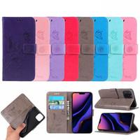 корзина для карточек оптовых-Ant цветок бабочка кожаный бумажник чехол для Iphone 11 Pro MAX XR XS X 8 7 6 Роскошный кошелек Мода Стильный ID Card Slot держатель телефона Обложка