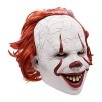 Wholesale helmets cosplay for sale - Group buy Halloween vinyan Mask clown Cosplay Helmet Cap Party Mask Props Concert Costumes Gift Masquerade Full Face Masks headgear LJJA3155