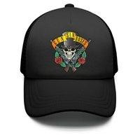 örgü güller toptan satış-Çocuklar Erkek Kız Çocuk Ayarlanabilir Beyzbol Şapkası Guns-SIN-Roses-sKULL Güneş Şapka Örgü Taktik Kap