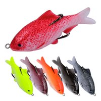 Wholesale soft lures shad for sale - New Lifelike Fish Body profile Rubber dying bait cm g D Shallow Swimming gamefish Shad lure