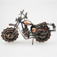 ingrosso artigianato in ferro battuto-Artigianato in metallo Modello motociclistico in ferro battuto a mano Modello di moto in metallo Artigianato Artigianato Collezione di decorazioni per la casa