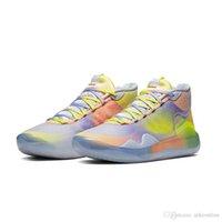 kd mor basketbol ayakkabıları toptan satış-kutu boyutu ile Mens ne kd 12 basketbol ayakkabıları Çiçek MVP Mor Mavi Easters Noel lebron 16 Kevin Durant, yüksek tavanın spor ayakkabılar tenis