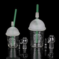 Wholesale green cup bong for sale - Group buy Starbuck Cup Water Original Opaque Bright Green Dab Concentrate Oil Rig Glass Bong Glass Dome and Nail Hookah Glass Water Pipe
