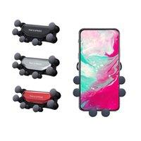 soporte giratorio del coche al por mayor-Minismile Soporte giratorio de 360 grados para coche Soporte de teléfono con ventilación de aire Soporte de teléfono móvil ACTUALIZADO para iphone X Xs Max Samsung S9