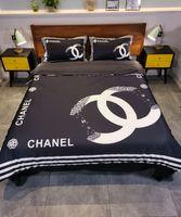 Wholesale designer bedding sets resale online - Branded Adult Letter Print Cotton Bedding Set Designer Bed Sheets Fashion Cotton Cover Pillow Cases Classic Soft Duvet Cover