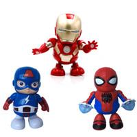 erkekler için kız oyuncakları toptan satış-CRESTECH DANCE KAHRAMAN Dans Demir Adam Marvel Parmaklar Avengers Oyuncaklar ile Müzik, Çocuk Erkek Kız Hediye için