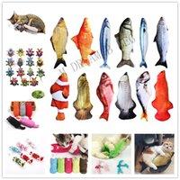 ingrosso denti peluche-Interactive Fancy Cat giocattolo animale domestico sveglio Gatti Denti Catnip giocattoli gatto cuscino peluche cuscino per dormire animali, bancari Gadget Spedizione Gratuita