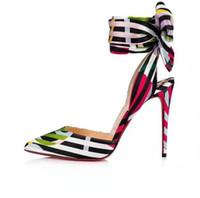 talons aiguilles confortables achat en gros de-Les femmes Bowie été sandales à talons Stiletto Nouvelle mode confortable couleur femmes sandales chaussures de mariage en cuir véritable avec boîte
