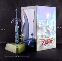 Wholesale toy links for sale - Group buy JHACG cm Zelda Skyward Sword link Master Sword Action figure toys doll Christmas gift with box T190925