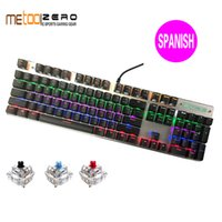 keyboard al por mayor-VENTA CALIENTE 104 Teclas USB Wired Pro Gaming Keyboard con LED Retroiluminado Gaming Keyboard para PC de escritorio Ruso Español Hebreo Árabe