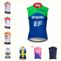 Wholesale cycling vests blue for sale - Group buy EF Education First team Cycling Sleeveless jersey Vest Hot Sale breathable and quick drying mountain Bike Clothes U72502