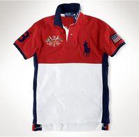 ralph tişörtleri toptan satış-YENI ralph Polo t gömlek lauren erkek polos t shirt marka lüks gömlek adam tasarımcı giyim t shirt Nakış Midilli mark kalite polos tees1