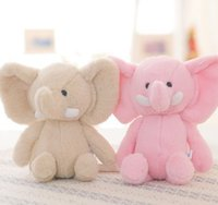 Wholesale wedding stuffed animals for sale - 2018 new soft elephant plush doll wedding doll Stuffed Animals holiday promotion children s gift toys