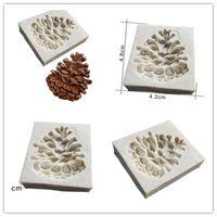 fondan kek yap toptan satış-Yeni Bar Çam fıstığı şekilli 3D fondan kek silikon kalıp polimer kil kalıpları çikolata pasta şeker yapımı için dekorasyon araçları