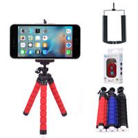 evrensel taşınabilir üçayak toptan satış-Esnek Mini Tripod Dağı Standı Evrensel Telefon Tutucu Taşınabilir Tripodlar iPhone Samsung GPS CameraSmartphone için Klip ...