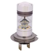 drl h7 toptan satış-2 ADET H4 100 W 20SMD Led Işık Beyaz 6000 K Araba Sürüş DRL Sis Lambası Ampul 12 V H7