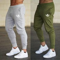 23 spor giyim toptan satış-Yeni spor spor Pantolon Rahat Polyester Erkek Spor Egzersiz Pantolon sıska Sweatpants Pantolon Jogger