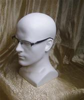 ingrosso manichino capelli uomo-Fashion Hot New Men Mannequin Heads Realistico Vetroresina Testa strumento per capelli per la visualizzazione di prodotti per capelli Cappelli Display di frutta