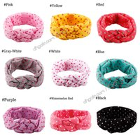 Wholesale childrens hair braiding for sale - Group buy Baby Girls Headbands Infant Braided Twist Turban Headbands Polka Dot Cross Knot Toddler Head Wrap Childrens Hair Accessories