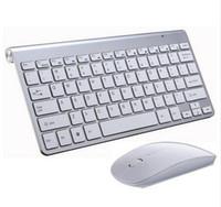 mini pc multimídia venda por atacado-2,4G teclado inalámbrico y ratón Mini teclado Multimédia Combo com teclado para computadores Mac PC TV Oficina suministros
