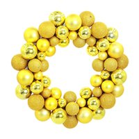 Wholesale wall floor photography prop resale online - Decorative Door Wall Ball Photography Prop Scene Layout Wreath Christmas Showcase Festival