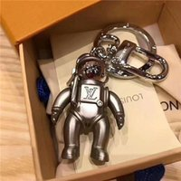 Wholesale zinc alloy chains resale online - High quality alloy key chain latest design astronaut fashion brand car key chain fashion lady bag pendant matching box
