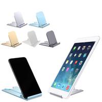 suporte de mesa para celular venda por atacado-Suporte do telefone móvel ajustável universal para iphone huawei xiaomi telefone plástico suporte de mesa tablet suporte dobrável desktop