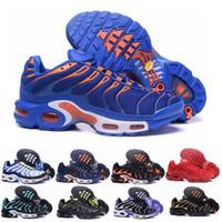 tn ups al por mayor-Nike air airmax Vapormax TN Zapatos casuales para hombres, zapatillas de deporte de buena calidad con cordones Zapatillas de deporte transpirables de malla con cordones