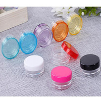 Wholesale plastics bottles for sale - Group buy Wax Container Food Grade Plastic Box g g Round Bottom Cream Box Small Sample Bottle Cosmetic Packaging Box Bottle Colors BH1912 ZX