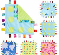 Wholesale taggies toys for sale - Group buy 30cm Baby Appease Towel Baby Comforting Taggies Blanket Super Soft Square Plush Toys Baby Appease BB Water Bath Shower Towel