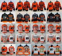hockey jerseys оптовых-Филадельфия Флайерз Jerseys 2019 Стадион серии хоккей 28 Клод Жиру Конецни Шейн Гостисбайер Уэйн Симмондс Ворачек Проворов Патрик