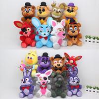 4 teddy bear venda por atacado-Cinco Noites No Freddy's 4 FNAF Freddy 25 cm chica bonnie Urso foxy Plush teddy bear Brinquedos Boneca para crianças bebê presente da boneca de natal