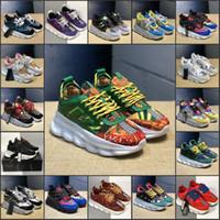 zapatillas al por mayor-TOP zapatos de diseño de la cadena de reacción lujo de los hombres de las mujeres zapatillas de deporte 2019 Moda Look Distrito medusa Chaussures Calzado casual