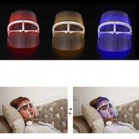 ingrosso strumenti di bellezza spa-LED Terapia Maschera Facciale Strumento di bellezza SPA viso Trattamento dell'acne Rughe Remover Ringiovanimento della pelle Strumento Idratante LLA480