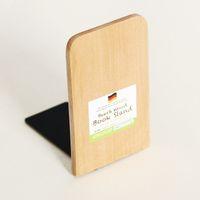 marca livros venda por atacado-BBrand novo Anti-skid Bookends livro termina Prateleira Suporte de madeira da natureza livro estar marcas de livro criativa Bookmark SY0161