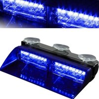Wholesale flash dash car resale online - 12V LED High Intensity Car Strobe Flashing Warning Light Universal Emergency Light for Interior Roof Dash Windshield with Suct
