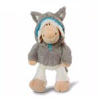 koyun dolması hayvan peluş toptan satış-35 Cm Süper Sevimli Dolması Hayvan Nici Koyun Kurt 'S Doll Kurt Koyun Peluş Oyuncaklar Doğum Günü Hediyesi Için 1 Adet