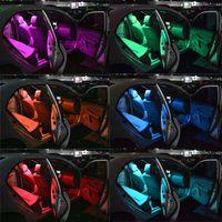 coche ligero mejor azul al por mayor-2 unids / par T10 5050 Control Remoto Coche Bombilla Led 6 Smd Multicolor W5w 501 Bombillas Laterales Envío Gratis