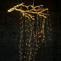 ingrosso caffè principale-100leds 200leds 600leds Luci di filatura Rame Wire Branch luci led luci stringa di fata per Home Cafe Bar Decorazione della festa nuziale di Natale