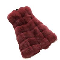 женские жилеты для похудения оптовых-Winter Casual Faux Fur Vest Coat Women 2019 Vintage Fashion Warm Slim Sleeveless Coat Solid Vests Female Jacket casaco feminino