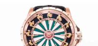 ingrosso orologio da tavolo rotondo-Excalibur orologio meccanico per uomo cavalieri del tavolo rotondo 9015 orologi automatici di lusso mens 45mm Rddbex orologi da polso in pelle