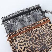 handy-kupplung geldbörse großhandel-201.911 Snakeskin Leopard PU Mobile Wallet-Mädchen-Frauen-Mappen-Armband Handtaschen-Handy-Geldbeutel Wristlet-Handtasche mit Reißverschluss-Bügel M884F